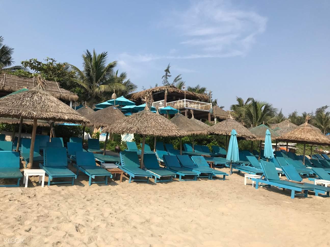 Hotel's private beach at An Bang beach